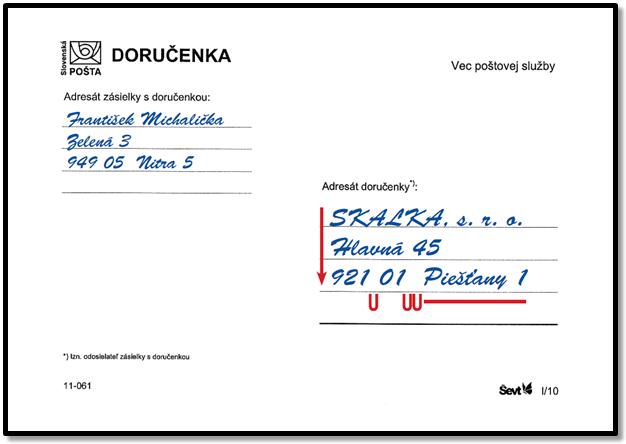 Slovenská pošta - Správne napísať adresu